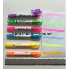 Fluoreszierende feste Markierung mit heller Farbe und glattem Schreiben