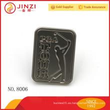 Material de aleación de zinc pequeño logo grabado