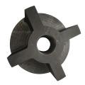 Rotor de grafito de carbono para desgasificación de aluminio