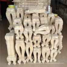 Muebles de madera decorativos tallados patas de mesa / pie de muebles