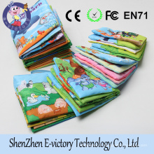 Wholesales 6 Designs Assorted Colorful Educational Cloth Baby Fabric Book