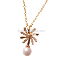 Fashion Bling Golden Plated Snowflake Neckalce,Winter Necklace