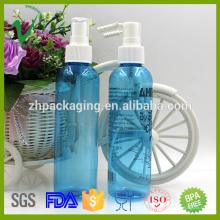 PET cuidado de pele pessoal redondo vazio plástico garrafas transparentes para perfume