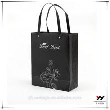 2018 christmas design custom logo kraft paper packing gift shopping black bags
