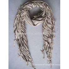 Square printed zebra pattern scarf viscose