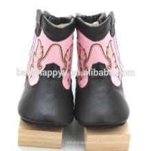 Meilleures ventes Cute Fancy girls prewalker cuir chaussures bébé hiver
