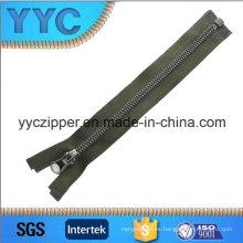Dientes del triángulo de la alta calidad 5 # Zipper plástico de una manera