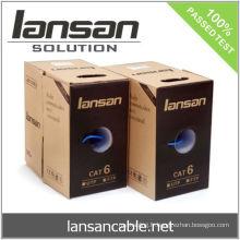 Câble UTP CAT 6 250Mhz, 4PR 24AWG Cuivre solide, PVC / LSOH, ETL / UL / ROHS, LANSAN