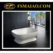 Beautiful Curve Solid Surface Bathtub Freestanding White (BS-8613)
