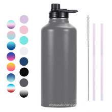 2021 Hot sale double wall stainless steel water bottle with lid