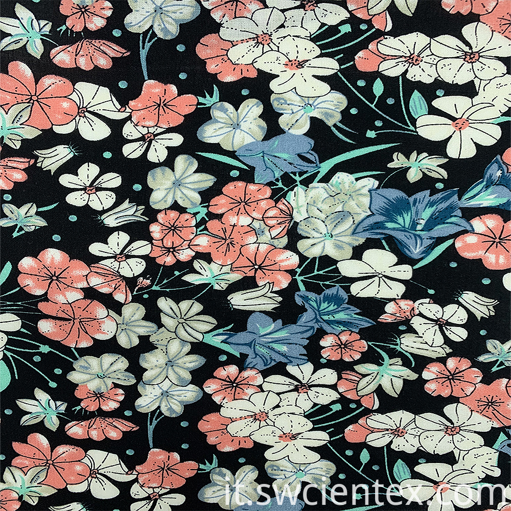 Digital Printed Rayon Fabric 3
