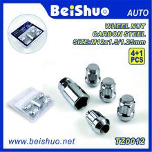 4+1PCS Spline Wheel Lug Nut with 1 Key