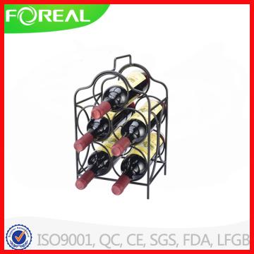 5 Bottles Metal Wire Portable Wine Rack