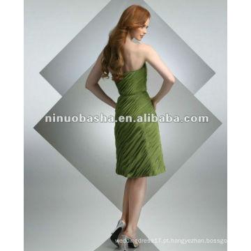 Chiffon plissado com um cinto simples no vestido de cocktail da cintura