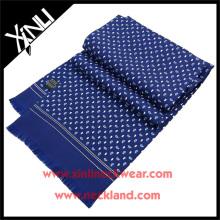 Proveedor chino Impreso a mano Pañuelo Paisley Obligado Pañuelo de Seda Pura Verano