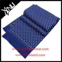 Fornecedor chinês Handprinted oblongo Paisley Twill lenço de seda puro verão