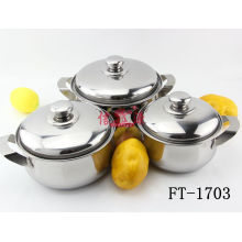 Stainless Steel 3PC Cook Pot (FT-1703-XY)