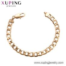 75189 Xuping guangzhou moda imitación joyería hilo de seda simple cadenas de oro pulsera