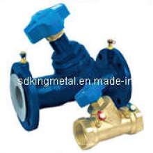 Pn16 válvulas de equilíbrio de extremidade flangeadas de ferro fundido