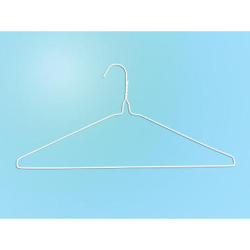 "16""13g White Powder Dry Cleaner Wire Suit Hanger"