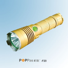 Golden 600ml CREE Xml U2 1X 18650 Batterie Portable et Camp LED Flashlight Poppas-F20