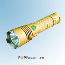 Lanterna elétrica do diodo emissor de luz do refletor de 600 Lúmens CREE Xm-L U2 (POPPAS- F20)