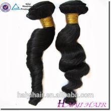 Großhandelsperuanische Haar-100% unverarbeitete Haar-Schuss lose Welle Menschenhaar-Bündel