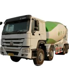 10cbm capacity volume concrete mixer truck howo A7 8x4 sinotruk cement mixer truck