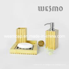 Juego de baño de bambú de dos tonos (WBB0301C)