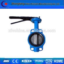 Cast iron wafer type butterfly valve