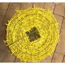 Arame farpado de alta qualidade de pulverização de borracha de plástico para venda