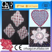 HUAGUI dos apliques de diamantes de imitación en bordado
