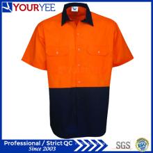 Segurança Olá Vis Camisas de Trabalho camisas de manga curta Workwear (YWS117)