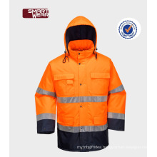 clothing for road safety manufacturers uniform 300D oxford reflective safety jacket