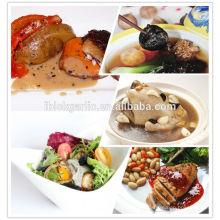 pure natural green food and aged black garlic recipe