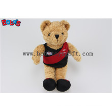 "5.5"" Brown Club Teddy Bear with Club Logo Printing T-Shirt and Shoes Bos1105"