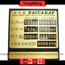 High-Grade Pure Copper Table Limit (YM-LC03)