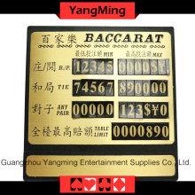 Limite de table de cuivre pur de haute qualité (YM-LC03)
