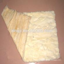 Rex plaque de fourrure ventre de lapin couleur blanc naturel