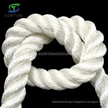 Wearable 3 Strand White Polyester/Nylon/Sythetic/Marine/Mooring/Packing/Lifting/Twist/Twisted Cargo Net Rope