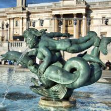 Delphin Brunnen Skulptur