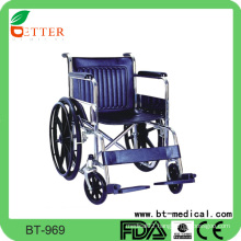 Steel ecomomic handicapped manual wheelchair