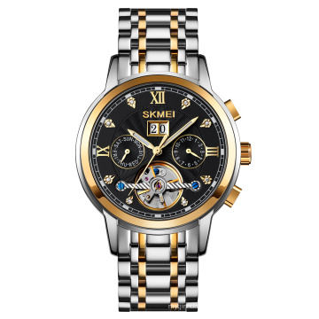2024 SKMEI M029 Wholesale Mechanical Watch Stainless Steel Automatic Watch