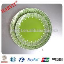 Grossiste Importateur de produits chinois en Inde Delhi / Color Glazed 10.5 '' Dinner Plate / Wholesale Ceramic Plates