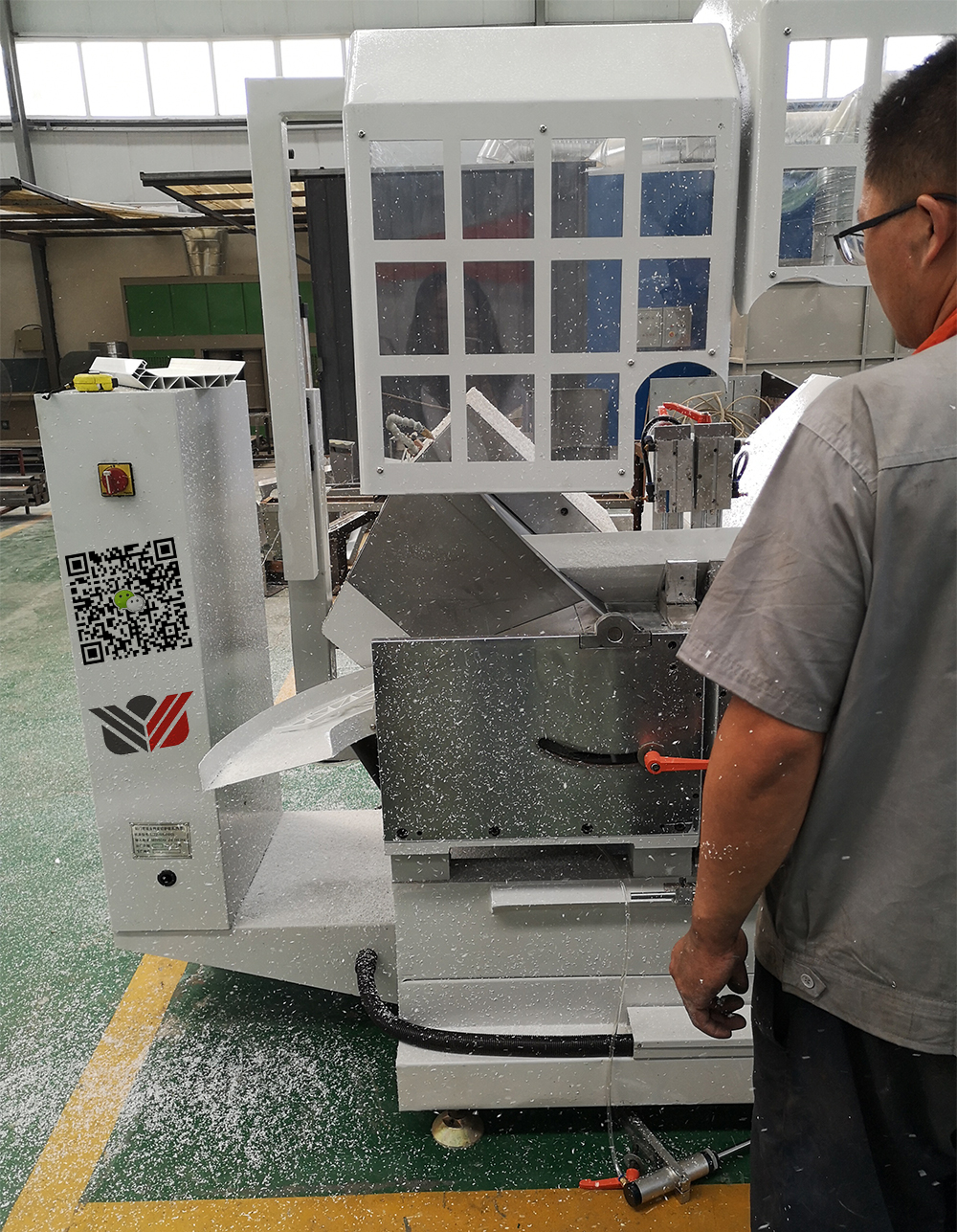 Profiles cutting saw Testing, Lumei