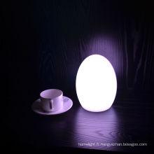 Lampe de table LED oeuf