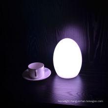 LED egg table lamp