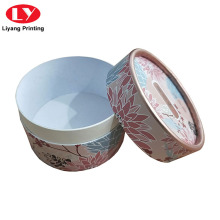 Pinted cosmetic powder round box