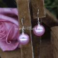 12MM Shell Pearl Moda Pendientes Coloridos
