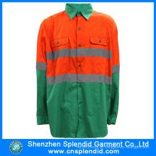 T-shirt de alta visibilidade verde escuro 3m Reflective da